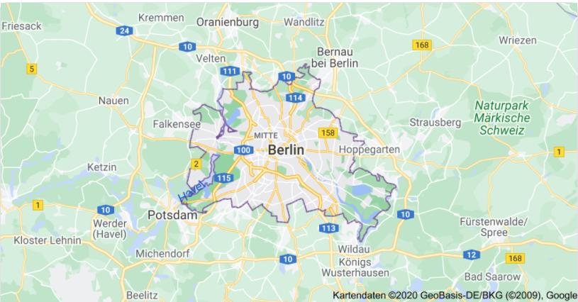 Berlin, Winter, Umrundung
